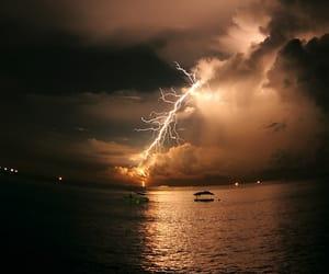 lightning, night, and storm image