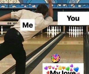 bowling, heart emoji, and boyfriend image