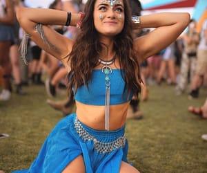 blue, coachella, and festival image