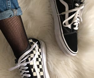 checkers, outfit, and vans image