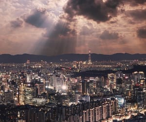 city, light, and seoul image