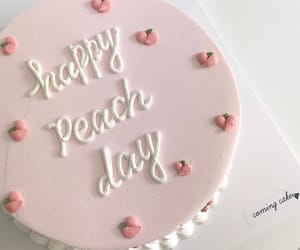 cake, peach, and food image