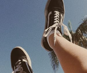 aesthetic, palm trees, and vans image