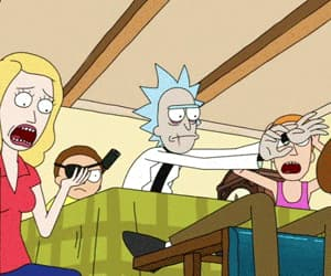 funny, rick sanchez, and summer smith image