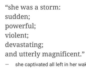 a storm, she captivated all, and left in her wake image