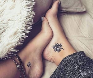 tattoo, art, and feet image