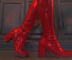 red, boots, and shoes image