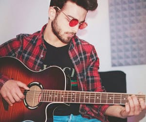 italian, playing guitar, and men's style image
