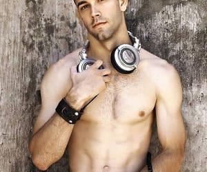 bald, headphone, and male body image