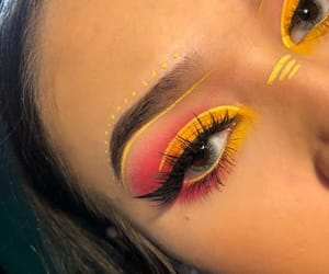 beauty, eye makeup, and girls image