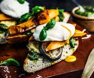 baguette, egg, and grill image