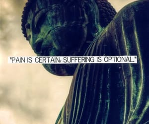 Buddha, pain, and buddhism image
