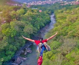 bungee jump, free fall, and rappelling image
