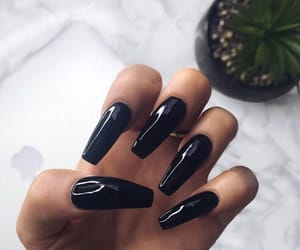 beauty and black nails image