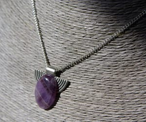 amethyst pendant, amethyst jewelry, and crystal healing image