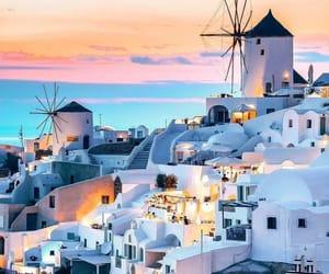 around the world, Greece, and santorini image