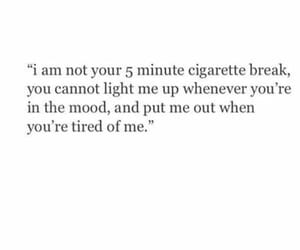 quotes, sad, and cigarette image