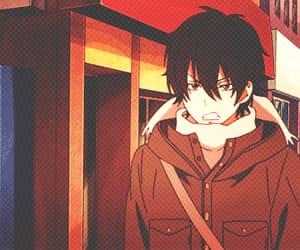 anime, gif, and tonari no kaibutsu-kun image