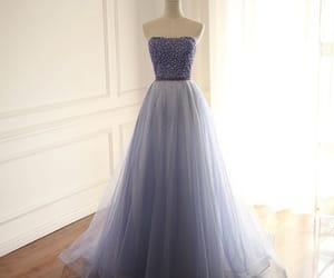 beading, prom dresses, and rhinestone image