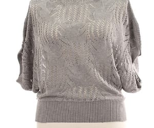 boat neckline and lace knit top image