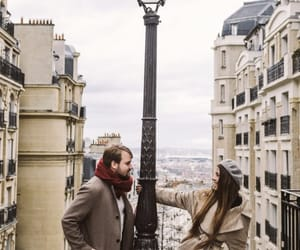 couple, paris, and polinabrz image