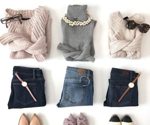 ballet flats, necklace, and pearls image
