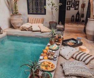 pool, food, and breakfast image