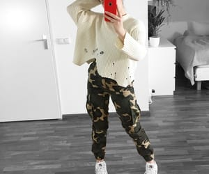 beige, camouflage, and fashion image