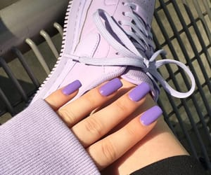 lilac, nails, and nike image