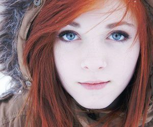 girl, blue eyes, and redhead image