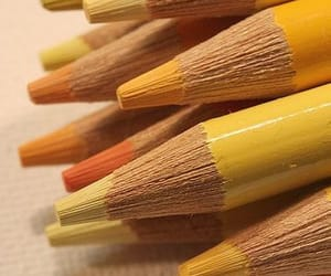 yellow, pencil, and aesthetic image