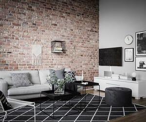 interior, loft, and brick wall image