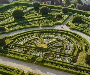 castle, chateau, and garden image