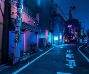 neon, aesthetic, and blue image