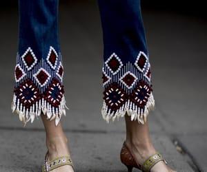 belleza, denim, and moda image