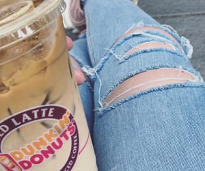 coffee, dunkindonut, and donuts image