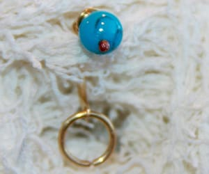 belly button ring, belly jewelry, and turquoise navel ring image