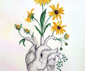 heart and flowers image