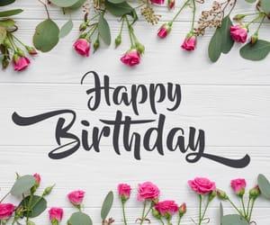 birthday, rose, and hbd image