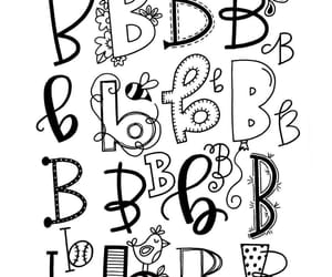alphabets, b, and calligraphy image