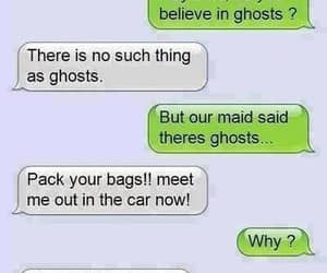 funny, ghost, and text image