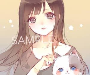 anime, butterfly, and kawaii image