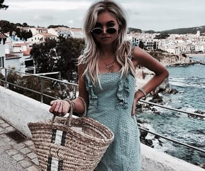 beach, blue, and fashion image
