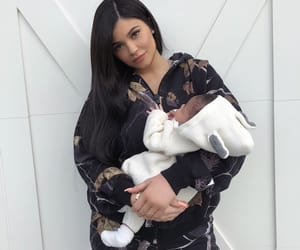 kylie jenner, storm, and baby image