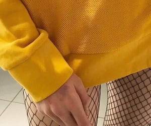 aesthetic, sweater, and yellow image
