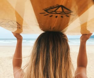 beach, blonde, and surf image