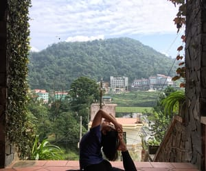 Vietnam, yoga pose, and yoga retreat image