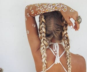 braids, fashion, and outfit image