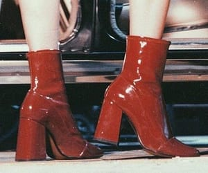 red, boots, and retro image