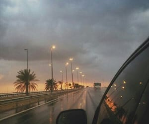 car, light, and sky image